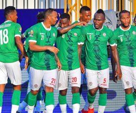 Des joueurs de l'équipe de Football de Madagascar, les Barea