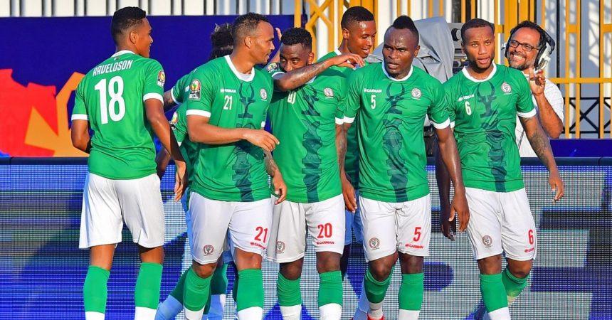 Joueurs des BAREA, l'équipe de Football de Madagascar