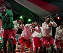 Lors du retour de l'équipe malgache de football, les Barea, à Madagascar.