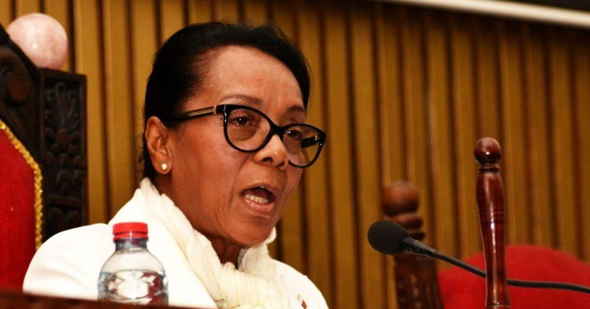La nouvelle Président de l'assemblée nationale de Madagascar, Mme Christine Razanamahasoa