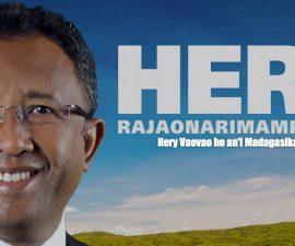 Affiche de propagande du candidat Hery RAJAONARIMAMPIANINA