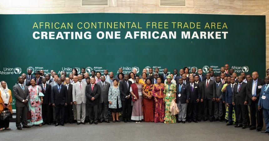 Photo des dirigeants de La Zone de libre-échange continental africaine ou ZLEC