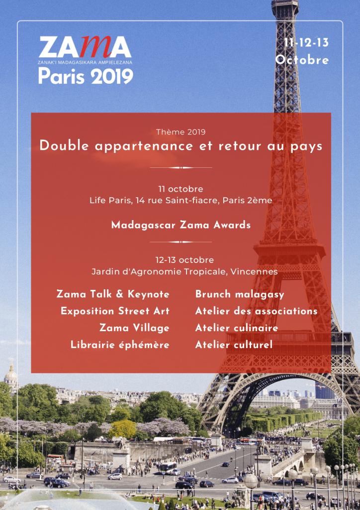 Theme de l'évènement ZAMA 2019