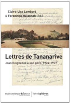 """Couverture du livre intitulé """"Lettre de Tananarive"""""""